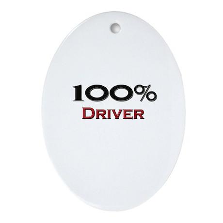 100 Percent Driver Oval Ornament