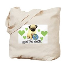 Earth Day Pug Tote Bag