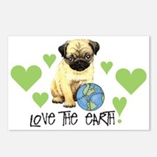 Earth Day Pug Postcards (Package of 8)