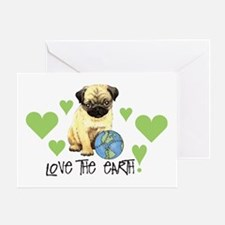 Earth Day Pug Greeting Card