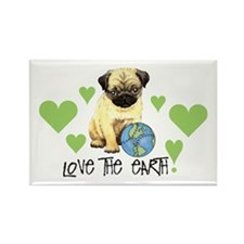 Earth Day Pug Rectangle Magnet