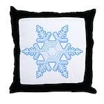 Flurry Snowflake X Throw Pillow
