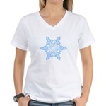 Flurry Snowflake X Women's V-Neck T-Shirt