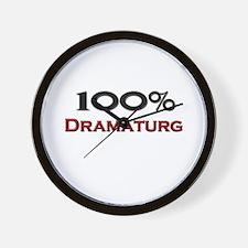 100 Percent Dramaturg Wall Clock