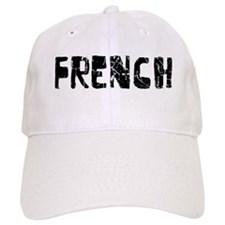 French Faded (Black) Baseball Cap