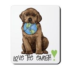 Earth Day Labrador Mousepad