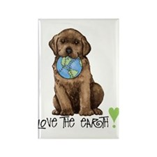 Earth Day Labrador Rectangle Magnet (10 pack)