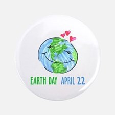 "Earth Day April 22 3.5"" Button"