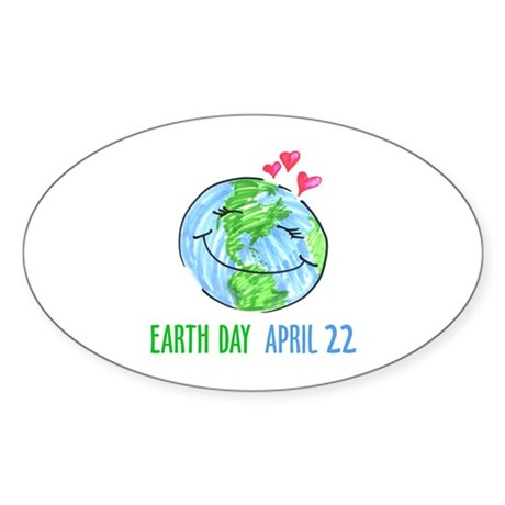 Earth Day April 22 Oval Sticker