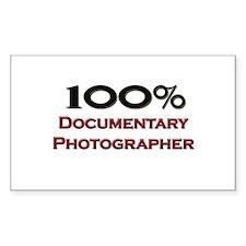 100 Percent Documentary Photographer Decal
