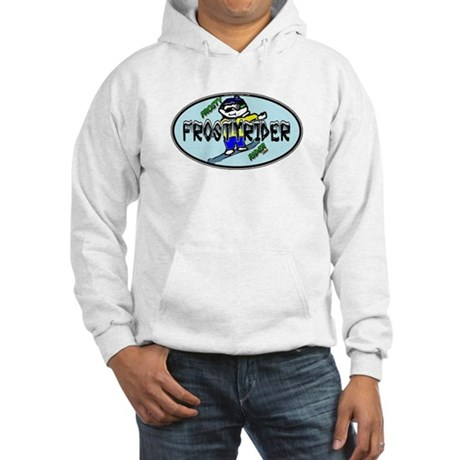 Frosty Rider Oval 1 Hooded Sweatshirt