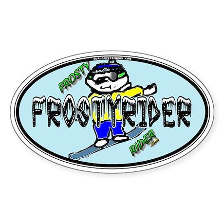 Frosty Rider Oval 1 Oval Sticker