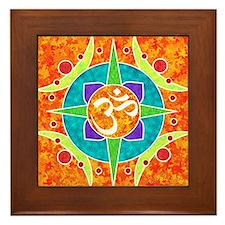 Om Framed Tile