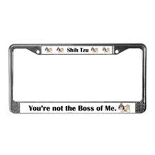 Shih Tzu is Boss License Plate Frame