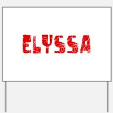 Elyssa Faded (Red) Yard Sign