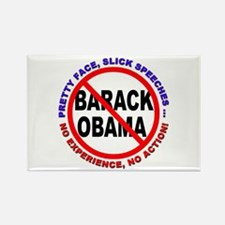 Anti-Obama No Experience Rectangle Magnet
