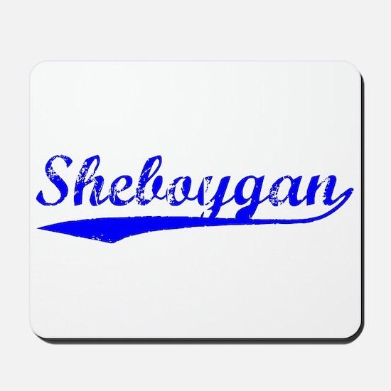 Vintage Sheboygan (Blue) Mousepad
