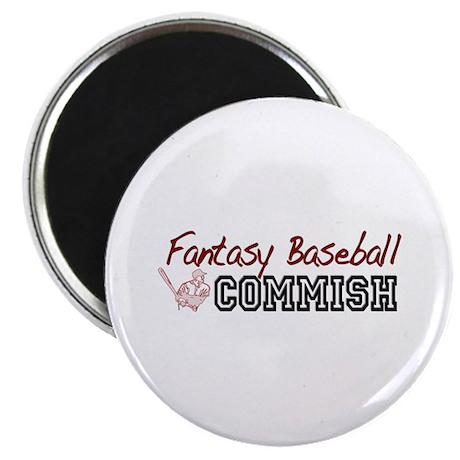 """Fantasy Baseball Commish 2.25"""" Magnet (100 pack)"""