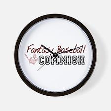 Fantasy Baseball Commish Wall Clock