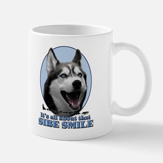Gray Sibe Smile Mug