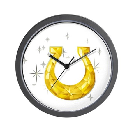 Lucky Horseshoe Wall Clock