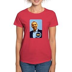 Barack Obama Hope Women's Dark T-Shirt