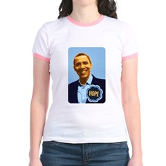Barack Obama Hope Jr. Ringer T-Shirt