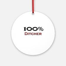100 Percent Ditcher Ornament (Round)