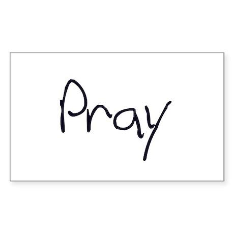 Pray Rectangle Sticker