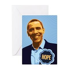 Barack Obama Hope Greeting Card