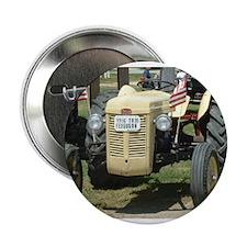"Cute Antique tractor 2.25"" Button"