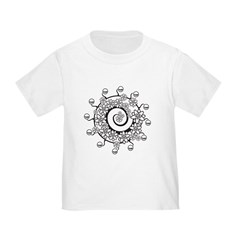 Spiral Flower Tattoo T