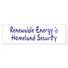 RENEWABLE ENERGY Bumper Bumper Sticker