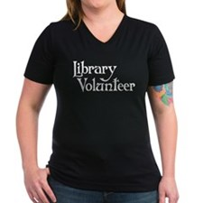 Library Volunteer Women's V-Neck T-Shirt