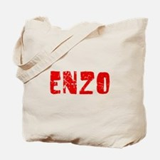 Enzo Faded (Red) Tote Bag