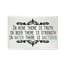 In Wine There is Truth Rectangle Magnet