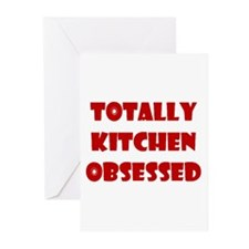 Totally Kitchen Obsessed Greeting Cards (Package o