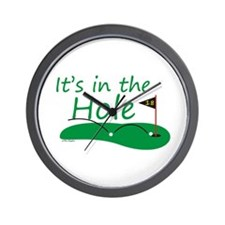 It's in the Hole Wall Clock