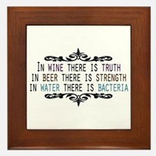 In Wine There is Truth Framed Tile
