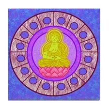 Meditating Buddha Tile Coaster