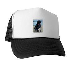 Black Lab on Beach Trucker Hat
