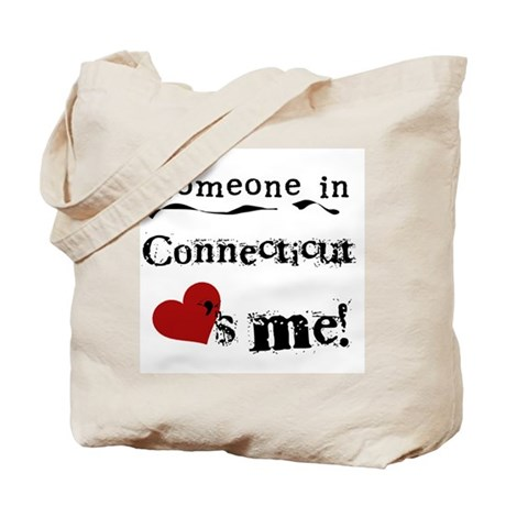 Someone in Connecticut Tote Bag