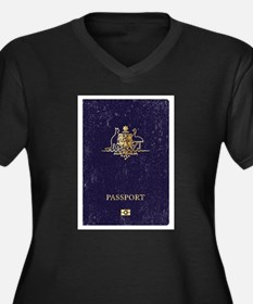 Australian Worn Passport Plus Size T-Shirt