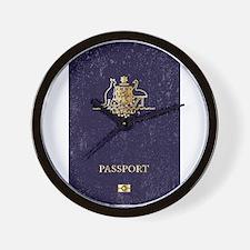 Australian Worn Passport Wall Clock
