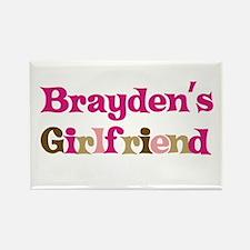 Brayden's Girlfriend Rectangle Magnet (10 pack)