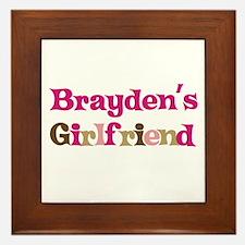 Brayden's Girlfriend Framed Tile
