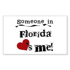 Someone in Florida Rectangle Decal