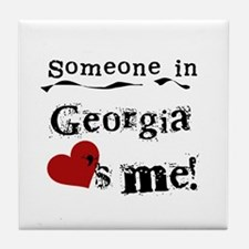 Someone in Georgia Tile Coaster