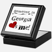 Someone in Georgia Keepsake Box