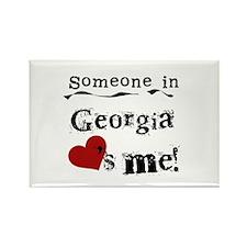 Someone in Georgia Rectangle Magnet